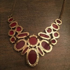 """Icing Jewelry - ICING Goldtone 20"""" Necklace w Red Colored Stones"""